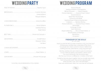 Andrew and Yoshica's Wedding Program 2