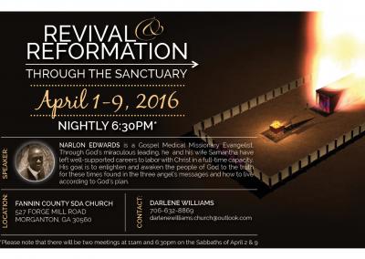 Sanctuary Revival Flyer