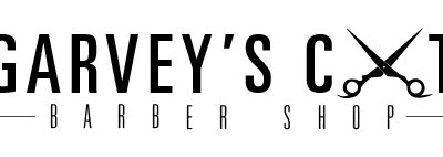 Garvey's Barber Shop Logo (b/w)