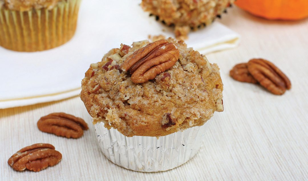 Pumpkin Muffins With Pecan Streusel